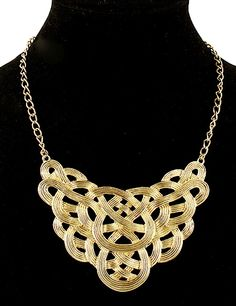 Punk Style Gold Hollow Out Collar Necklace - Sheinside.com