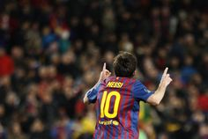 Lionel Messi's record five-goal haul in the Champions League rout of Bayer Leverkusen prompted Barcelona coach Pep Guardiola to hail the Argentine master the game's greatest talent. Fc Barcelona, Today In History, Pep Guardiola, Five Star, Lionel Messi, Champions League, Soccer, Football, Futbol