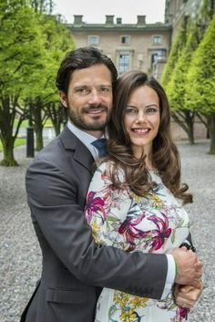 Sofia Hellqvist & Prince Carl Philip Pictures From Interview Televised Before June Wedding. May 2015.