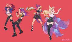 League of Legends K/DA fanart, Natalie Pellmann Lol League Of Legends, League Of Legends Characters, Character Concept, Character Art, Character Design, Concept Art, League Of Legends Personajes, Ahri League, Star Art