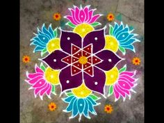 Simple Rangoli Designs Images, Rangoli Designs Flower, Rangoli Border Designs, Rangoli Ideas, Rangoli Designs Diwali, Rangoli Designs With Dots, Kolam Rangoli, Beautiful Rangoli Designs, Easy Rangoli