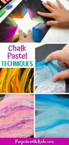 Easy chalk pastel techniques for beginners that kids of all ages will be able to learn! Create beautiful chalk pastel art with just a few simple techniques. Chalk Pastel Art, Oil Pastel Art, Pastel Paper, Pastel Drawing, Chalk Pastels, Chalk Art, Pastel Artwork, Star Painting, Painting For Kids