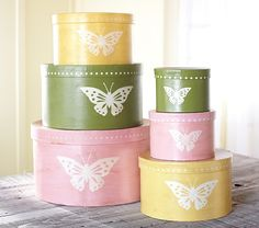 Butterfly Stacking Hat Storage | Pottery Barn Kids