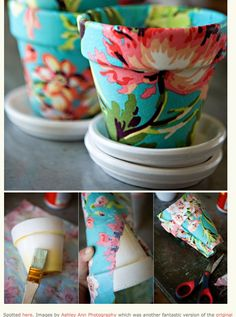 Cute pot container. (Please note: This isn't in English, but looks easy enough to create.)