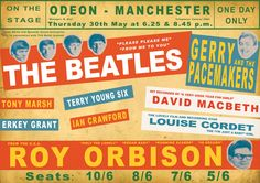 Beatles Concert Poster Posters & Prints by Rokpool