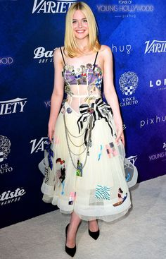 Elle Fanning's #hair at Variety's Power of Young Hollywood event in Hollywood 2016