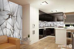 Fototapety DIMEX - prepojenie obývačky s kuchyňou Kitchen Island, Kitchen Cabinets, Home Decor, Island Kitchen, Decoration Home, Room Decor, Cabinets, Home Interior Design, Dressers