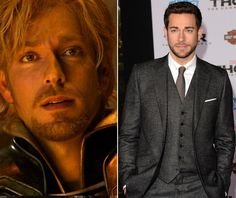 Zachary Levi as Fandral- Uh, you're welcome. :-)