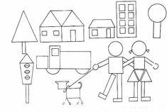 Actividades para niños preescolar, primaria e inicial. Imprimir plantillas con formas geometricas para niños de preescolar y primaria. Formas Geometricas. 25