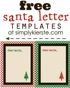 Just print, and your kids are ready to write their Christmas wishes for Santa Claus. Free Santa Letter Template, Free Printable Santa Letters, Free Letters From Santa, Letter Templates, Free Printables, Christmas Printables, Christmas Themes, Christmas Holidays, Christmas Crafts