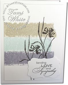 Stampin Up Love and Sympathy stamp set and video tutorial for the painters tape technique