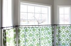 Shower Curtain to Cafe Curtains