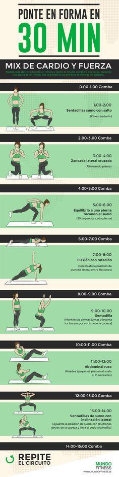 Sesión rápida para ponerse en forma: Cardio y peso corporal