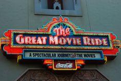 Great Movie Ride neon sign, Walt Disney World - MGM Hollywood Studios - by Vanessa Guzan, via Flickr