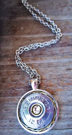12 GA Shotgun Shell Necklace by Sarahsjewelrydesigns on Etsy, $25.00