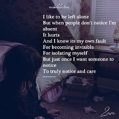 I Like To Be Left Alone - https://themindsjournal.com/like-left-alone/