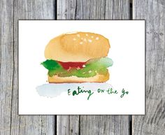 Art print for the kitchen Watercolor painting by lucileskitchen, $19.00