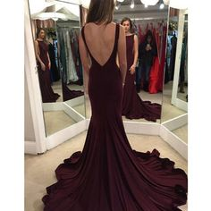 $129.99 Bateau Backless Sweep Train A-line Prom Dresses 2017products_id:(1000075309 or 1000075148 or 1000074533 or 1000073444)