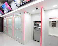 china_zheshang_bank_branch_self_service - The Financial Brand Bank Interior Design, Interactive Walls, Bank Branch, Innovation Centre, Partition Design, Self Service, Space Interiors, Showcase Design, Booth Design