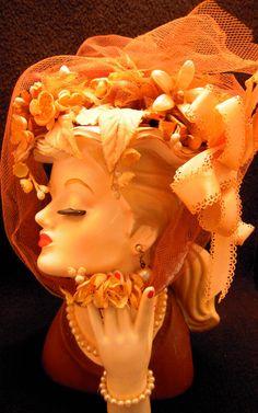 Napco 1950s lady head vase