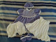 Knitted Premature Baby Girl Set £20-24 - #Handmade by people living with #chronicillnesses #ChronicPain #disabilities or #caring for those affected #Spoonie #CRPS #RSD