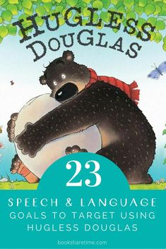 Check out the speech and language goals you can target in speech therapy using Hugless Douglas by David Melling #childrensbooks #picturebooks #speechtherapy