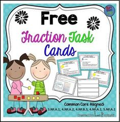 "FREE MATH LESSON - ""FREE Fraction Task Cards"" - Go to The Best of Teacher Entrepreneurs for this and hundreds of free lessons. 3rd - 5th Grade #FreeLesson #Math http://www.thebestofteacherentrepreneurs.net/2015/12/free-math-lesson-free-fraction-task.html"