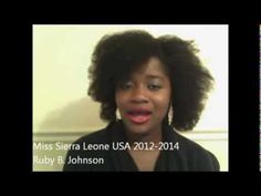 Miss Sierra Leone USA 2013-2014 Ruby B. Johnson speaking Arabic.