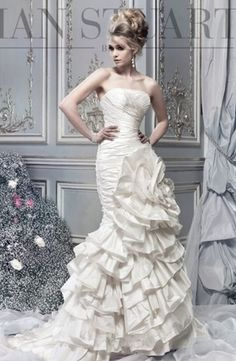 The Collection by Ian Stuart - Strapless Mermaid Gown in Silk Dupioni