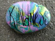 Kindness marble painted rock