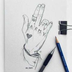 Jungkook's tattoo - Moyiki Sites Kpop Drawings, Art Drawings Sketches Simple, Pencil Art Drawings, Drawing Bts, Cute Tattoos, Hand Tattoos, S Tattoo, Bts Jungkook, Chicano Lettering