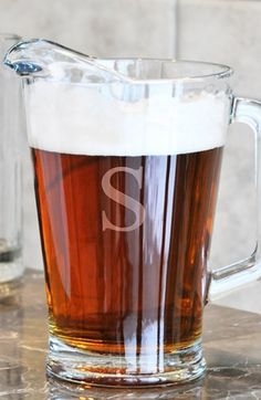 Holiday Gift Guide: For the Hostess - Personalized Glass Pitcher