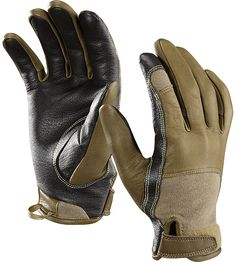 Leather gloves with E-tip for phone use. Always look to Arc'teryx combat line for technically advanced gear. Only leather e-tip gloves I've come across.