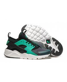 promo code 7c344 9c0f2 Femme Nike Air Huarache Noir Vert Chaussures Absolument authentique, beau  travail, des concessions de