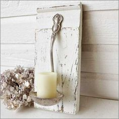 diy home decor, reuse recycle, decor crafts, old silverware, decorating ideas, candle holders, handmade candles, craft projects, home decorations
