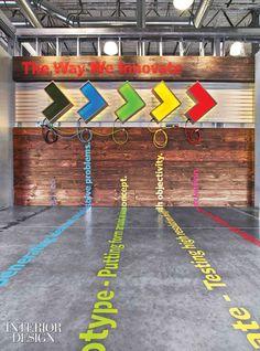 Chik-Fil-A's Atlanta warehouse conversion. Great Coporate Culture Branding