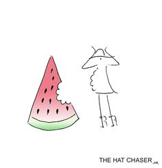 after a ligth #lunch #watermelon #thehatchaserink #sketch