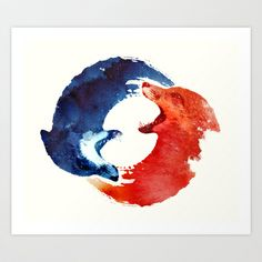 Ying yang Art Print by Robert Farkas -