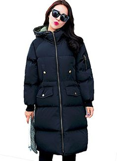 90495e6a273 Erlking Women s Hooded Long Down Coat Loose Jacket For Winter Plus Size at Amazon  Women s Coats