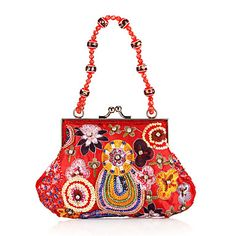 Classic Cotton with Embroidery and Sequins Evening Handbag/Clutches(More Colors) – EUR € 12.37