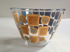 #culver #glass #ice #bucket #1960 #gold