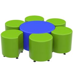 Marco Group Sonik Soft Seating 18 Round Ottoman Graphite