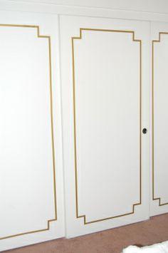 DIY Closet Door with Washi Tape