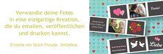 Slideshows, Grußkarten und mehr mit Smilebox