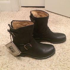 Veronica Back Zip Short Frye Boot Black, never been worn, back zip boot Frye Shoes Combat & Moto Boots