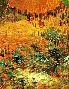 Haystacks in Provence, Van Gogh, detail.