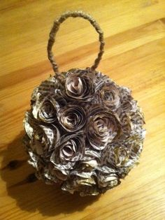 Love recycled book art!