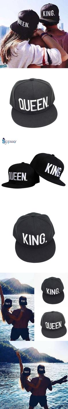 Couple Summer Baseball Cap KING QUEEN Letters Embroidery Snapback Hat  Acrylic Men Women Gifts Hip-. King QueenSnapback HatsMen ... 9dd5d9cd8ddd