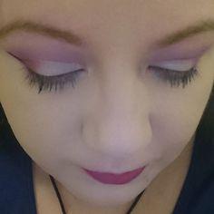 Loving this smokey purple half cutcrease look..