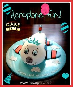 If your child is wild about airplanes, Fly High with our Fun Cake - #Aeroplane #ThemeCake from Cake Park.  Place orders online along with Midnight Delivery : http://www.cakepark.net/theme-cakes.html or reach us at 9444915533 #cakepark #chennai